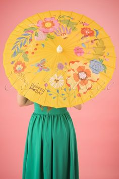 Dapper Day Garden Party Parasol yellow #topvintagebirthdaylook