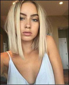 Blonde über Schulter Länge Haar | Kurzhaarfrisuren 2018 | Einfache Frisuren