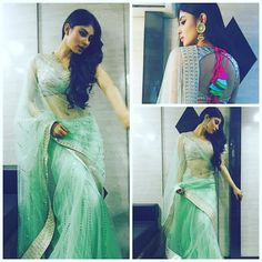 Mouni Roy Hot Pics: Check out the hot and sizzling pics of Television queen Mouni Roy. Mouni Roy hot and sexy pics collection. Bollywood Saree, Bollywood Fashion, Bollywood Actress, Lehenga Gown, Saree Dress, Sari, Indian Dresses, Indian Outfits, Mouni Roy Dresses