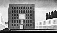 Adalberto Libera Proposal for the Central Plaza, Competition Project for Aprilia, Italy, 1936