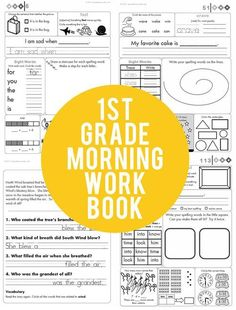 "Our top selling 1st grade morning work now includes an answer key! If you purchased previously, be sure to download again in ""My Purchases"" on TPT!"