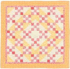 Pink Lemonade baby quilt by Mary Hickey