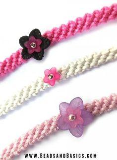 Kids bracelet - Friendship bracelet - Fashion - pink -   DIY + Materials to make your own at www.beadsandbasics.com