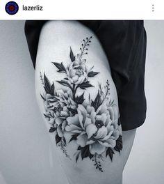Black and gray tattoo by @lazerliz                              …