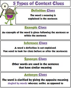 Use this when teaching Context Clues with the students. It's a ...