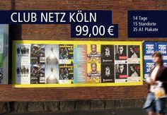 Kulturpromotion funktioniert mit dem #Club Netz in Köln szenenah und besonders günstig.