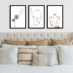 Bedroom Decor, Wall Decor, Home Decor Signs, Diy Painting, Dorm Room, Room Inspiration, Farmhouse Decor, Bed Pillows, House Design