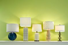 Various assortment of table lamps from the Dimond Lighting / HGTV collaboration.