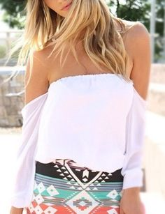 Wisteria Lane Off the Shoulder Blouse - Ivory RESTOCKED