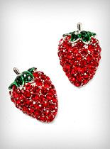 Sparkling Strawberry Stud Earrings at PLASTICLAND