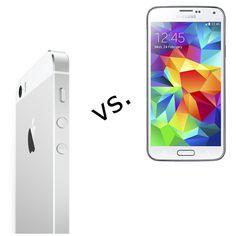 Samsung Galaxy S5 im Vergleich zum iPhone 5S