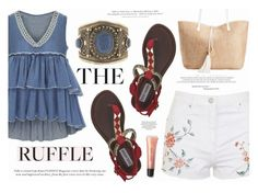 """All Ruffled Up"" by katarina-blagojevic ❤ liked on Polyvore featuring Topshop, Steve Madden, Barneys New York, INC International Concepts, H&M, Bobbi Brown Cosmetics and ruffles"