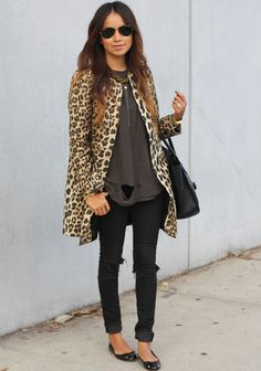 Leopard topper. Oh yes, my favorite color all around. #Streetstyle