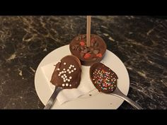Hot Chocolate Stirrer | Hot Chocolate Dipper | Hot Chocolate Spoons || Winter Special #2 - YouTube Chocolate Spoons, Melting Chocolate, Hot Chocolate, Dipper, Cocoa, Cake, Kitchen, Desserts, Youtube