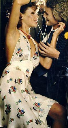 Model wearing a dress by Ossie Clark for Radley. 1974.