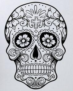 love this sugar skull! tattoo maybe? :)