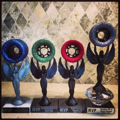 Fabulous Sin City Roller Derby Home Team Trophies . DIY super easy @aprildtanner