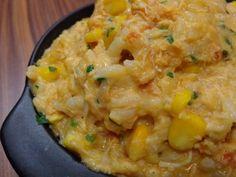 risoto de palmito com frango