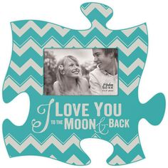 I Love You Puzzle Photo Frame