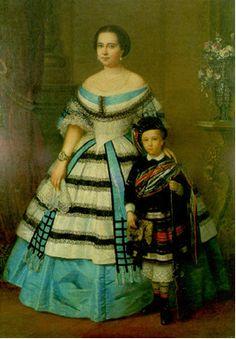 Retrato de dama con su hijo. (Portrait of a woman and her son).  c. 1860  José Balaca (1800-1869)  Repository unknown