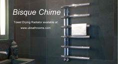 One of my favourite radiators, lovely chunky rails, great design with practical features.    Bisque Chime Towel Radiator CHM100-50 - BISQ722 (CHM100-50).     Heated Towel Rails & Towel Drying Radiators from UK Bathrooms