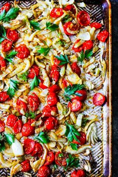 Italian style Roasted Fennel with Tomatoes is one of those dishes that can elevate a simple meal to the extraordinary level The taste of roasted fennel with sweet cherry. Best Side Dishes, Side Dish Recipes, Raw Food Recipes, Seafood Recipes, Italian Recipes, Beef Recipes, Vegetarian Recipes, Chicken Recipes, Croatian Recipes