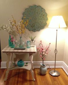 Entryway for spring / shabby chic