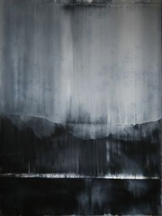 "This could inspire a silky white to black dress or top for a costume. I chose this picture because it has a type of industrial tinge to it. Koen Lybaert; Oil, 2013, Painting ""abstract N° 643"""