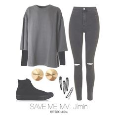 All grey outfit + gold jewellery