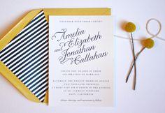 Calligraphy Slant Wedding Invitation // Save the Date. $1.50, via Etsy.