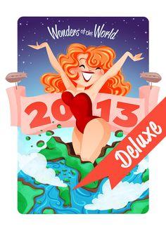 2013 Calendar DELUXE Edition Wonders of the World par genevieveft, $30