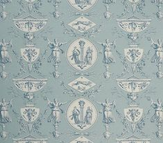 Aphrodite Curtain Fabric A highly detailed toile design originally designed by Jean Baptiste Huet at the turn of 19th century and featuring...