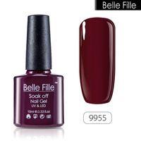 BELLE FILLE 1pcs CND UV Nail Gel Polish 10ml Soak Off salmon pink bean red vivid blue cream color GEL Hot Sale DIY Nail Art