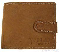 Pánská peněženka z broušené kůže WILD 995 přírodní hnědá