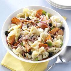 Pepperoni-Artichoke Pasta Salad