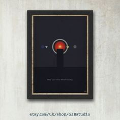 2001: A Space Odyssey Movie Quote Poster A2 420 x 594 by GJBstudio