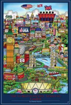 Team USA Poster ........ Olympics 2012- London, England