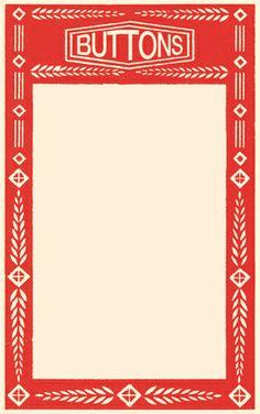 3x5 Printable vintage button card ~ Frame/label/journaling card