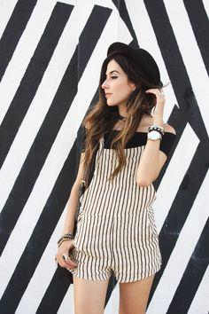black and white stripes in Wynwood Walls - Miami