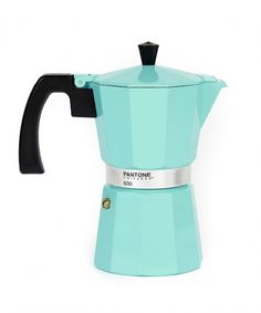 stove top espresso and coffee maker. #pantone #mint #kitchen