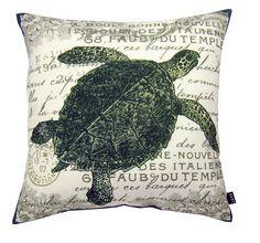 Vintage Seaside Sea Turtle Pillow. $28.75