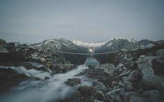 夜のハイキング(オーストリア)
