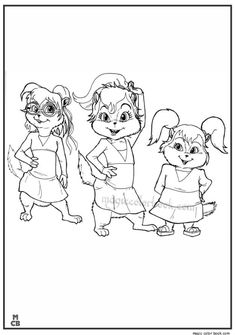 alvin and chipmunks coloring pages 31
