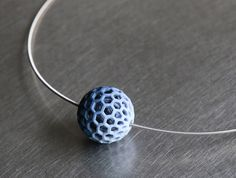 elleke van gorsel crafts 3D printed delft blue jewelry collection