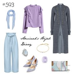 """#593 Pastel Love"" by aminahs-hijab-diary ❤ liked on Polyvore featuring MANGO, River Island, Missoma, Bling Jewelry and Eos"