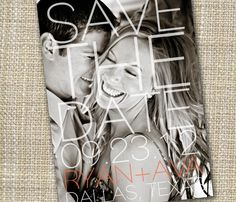 modern photo save the date - make a statement.. $15.00, via Etsy.