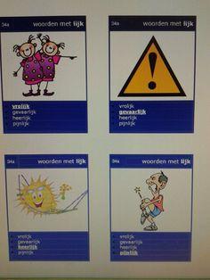 Kwartet met verschillende spellingscategorieen. Te downloaden van digischool.