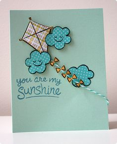 Lawn Fawn - Sunny Skies _ Lawnscaping Challenge #62- Paper Piecing | Flickr - Photo Sharing!