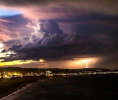 Thunderclouds over Gold Coast of Australia via Naked Planet Earth, seanscottphotography
