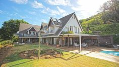 Gothic Revival architecture inspired this property for sale on 4 ha on the slopes of Paarl mountain #gothic #architecture #paarl #realestate #property #homes #houses #design #decor